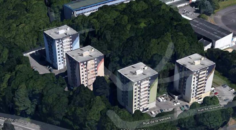 OPAC de QUIMPER – Démolition de 4 immeubles R+9