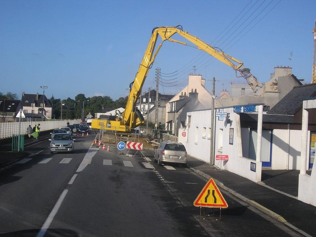 Démolition à Landerneau