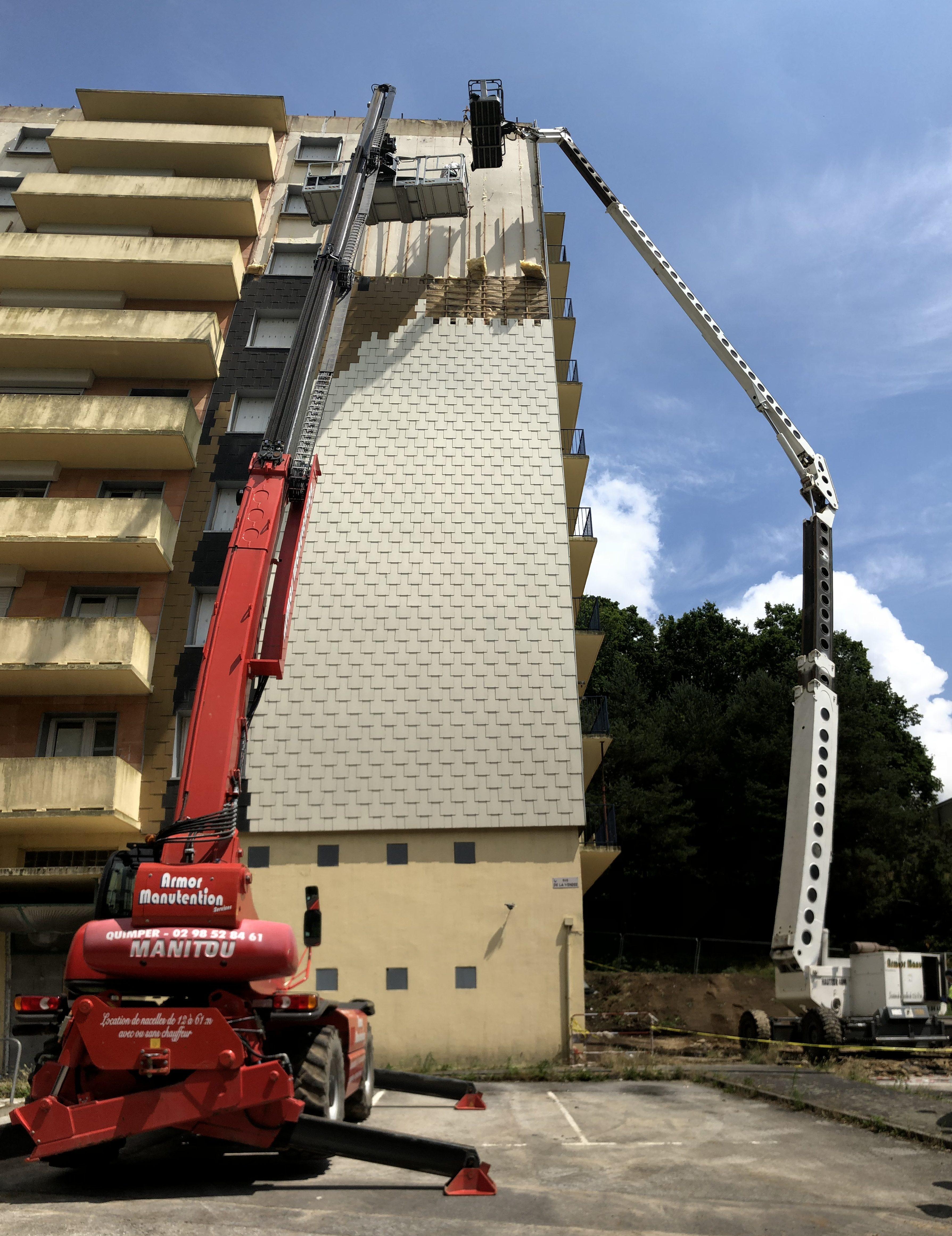 Gros Oeuvre Quimper opac de quimper - démolition de 4 immeubles r+9 - liziard